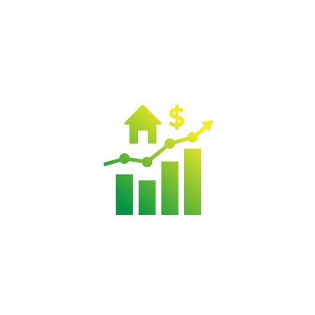 house prices growth, growing market icon