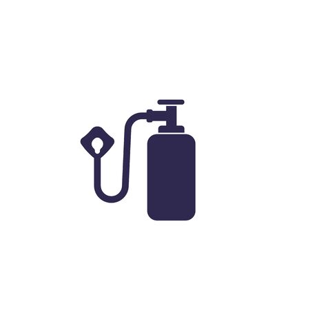 oxygen tank and mask icon Vettoriali