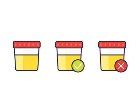urine test, vector icons Vecteurs