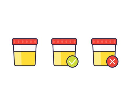 urine test, vector icons Vektoros illusztráció