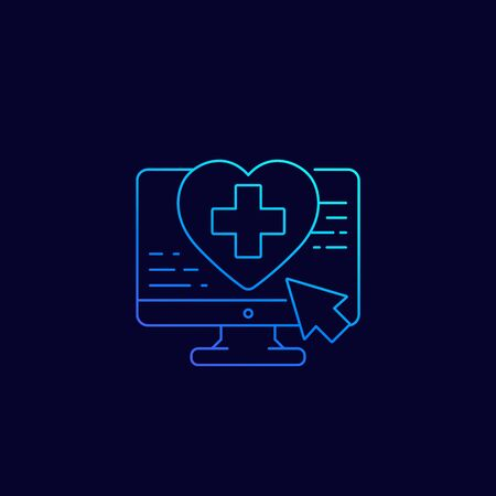 online medical services icon, linear