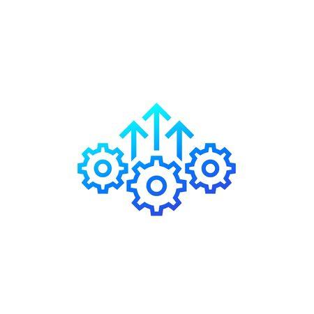 Icono de eficiencia y excelencia operativa