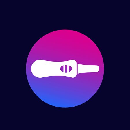 pregnancy test, vector solid icon Иллюстрация