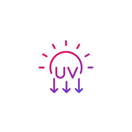 UV radiation, ultraviolet icon, line
