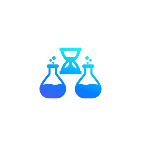 chemical reaction duration icon, vector Illustration