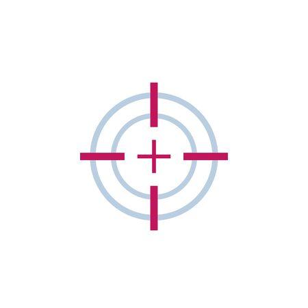 Target aim or crosshair vector icon
