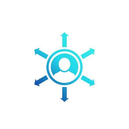 Influence vector icon on white Ilustración de vector