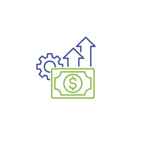 financial efficiency icon in line style Ilustración de vector