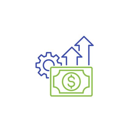 financial efficiency icon in line style