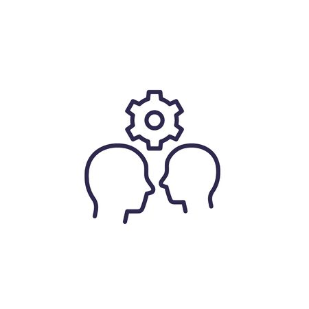 human interaction, line icon