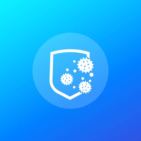 antibacterial protection or immune system vector icon