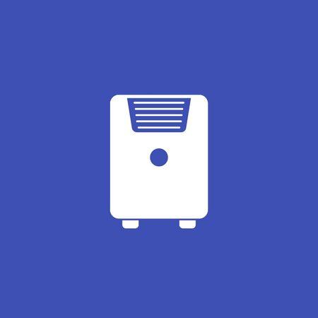 air conditioner, mobile ac vector icon Иллюстрация