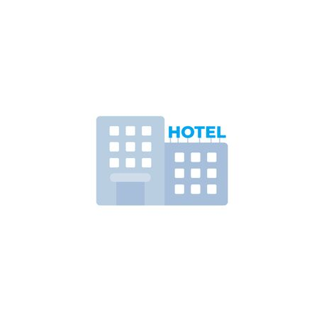 Hotel icon in flat style