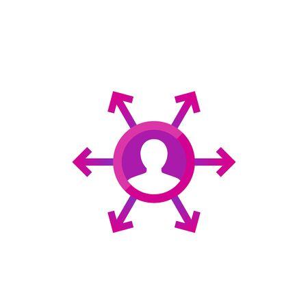 delegation, management icon for web