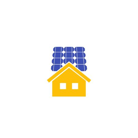 Solar panels for home, vector icon Ilustracje wektorowe