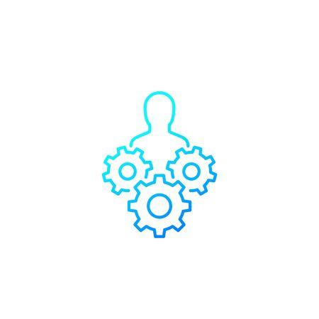 abilities, skills icon, line vector