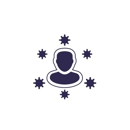 immune system vector icon on white Vectores