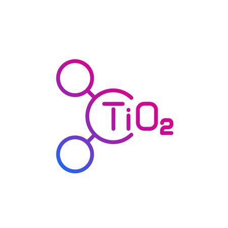 molécule de dioxyde de titane, icône de la ligne vectorielle Vecteurs