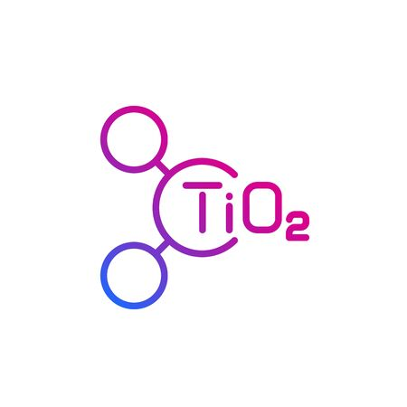 titanium dioxide molecule, vector line icon