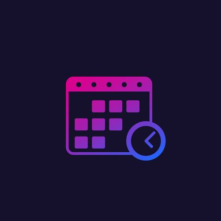 reservation, vector icon with gradient