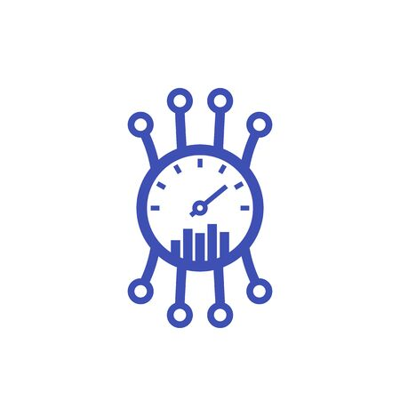 Efficiency, performance icon on white, vector