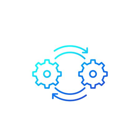 process vector icon in linear style