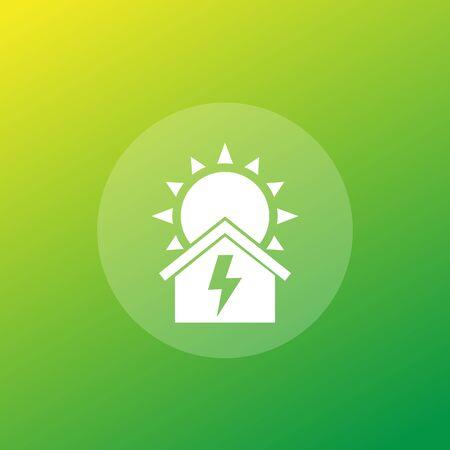 solar energy for home, vector icon Ilustracje wektorowe