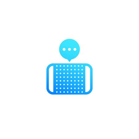 Smart speaker or voice assistant icon on white