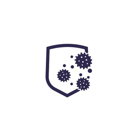 antibacterial protection or immune system icon