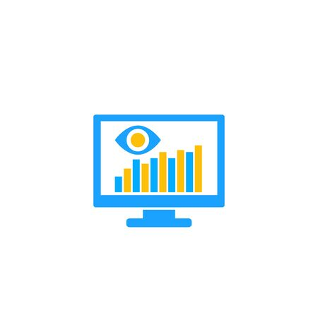 data monitoring software icon on white
