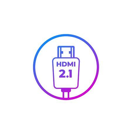 HDMI 2.1 icon, vector sign