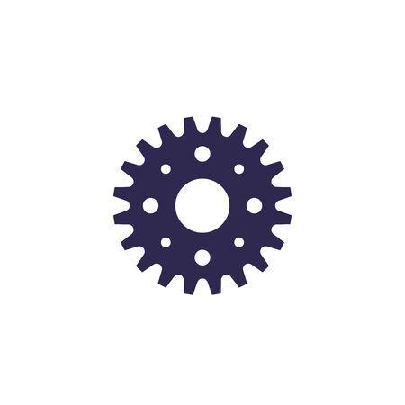 sprocket icon on white, vector