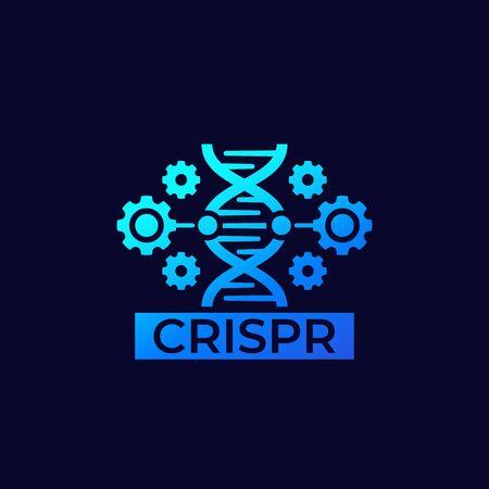 CRISPR, genome editing vector icon