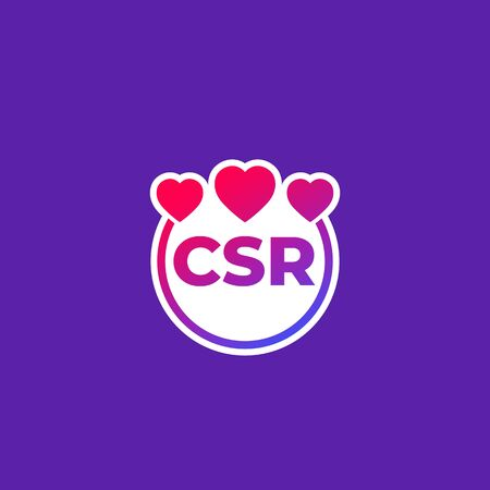 CSR vector icon, corporate social responsibility