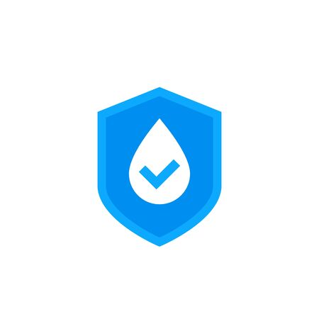 waterproof icon, water resistant vector logo