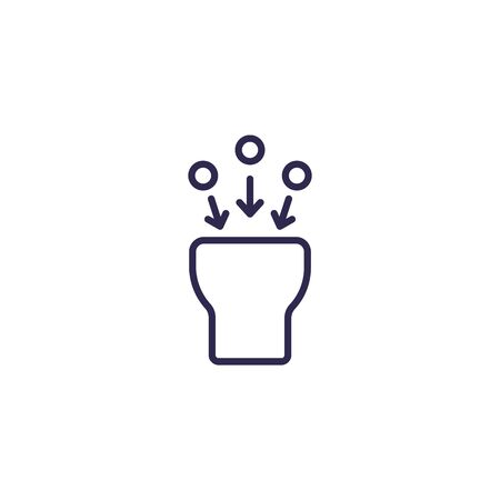 suction icon, line vector on white