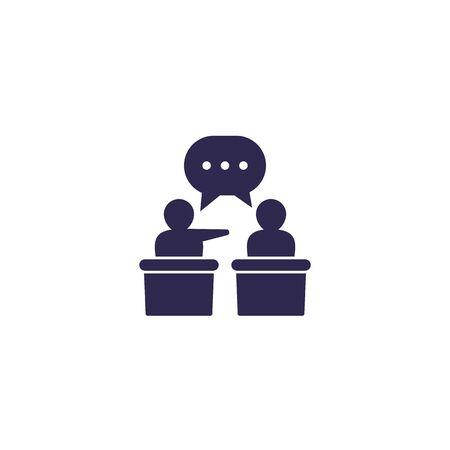 debate or discussion icon, vector Ilustração