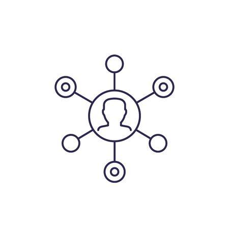 Affiliate marketing vector icon, line