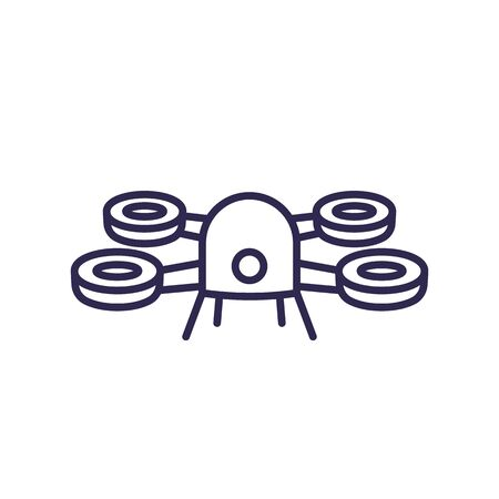 Drone icon on white, line