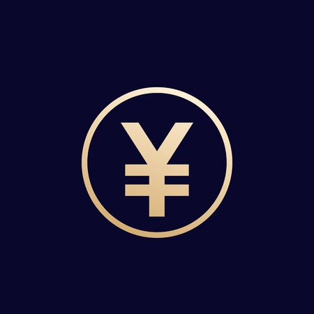 Yen icon, japanese money, vector
