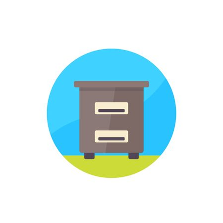 Hive, apiary icon, flat vector
