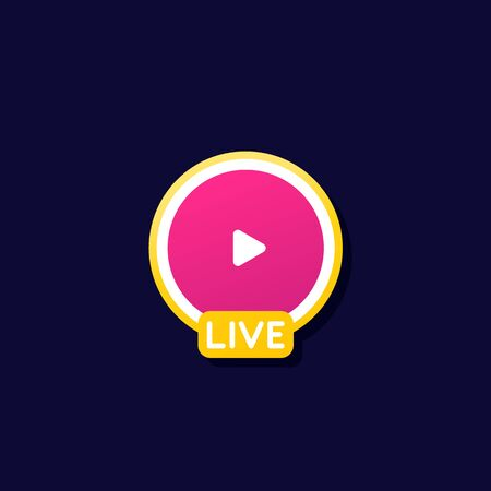 Live stream icon for apps and web