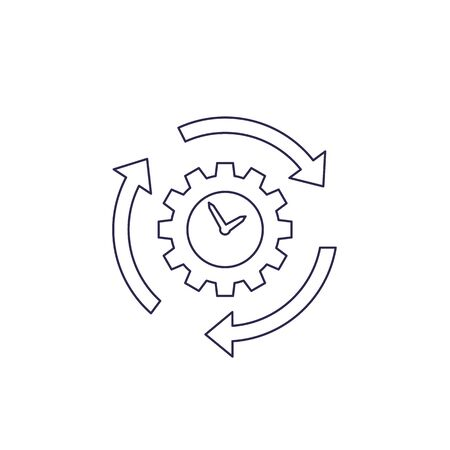 productivity and efficiency, line icon on white Vectores