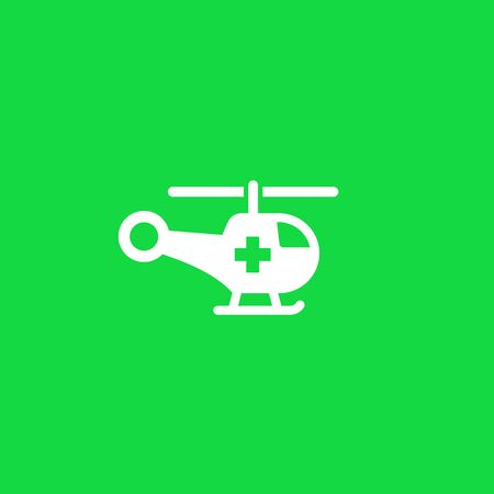 Air ambulance or medical helicopter icon