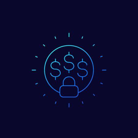 fixed cost icon, linear design
