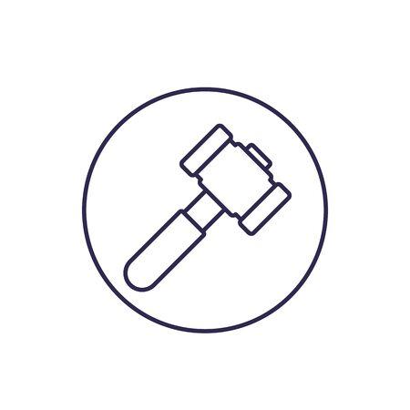 Hammer, sledgehammer icon on white