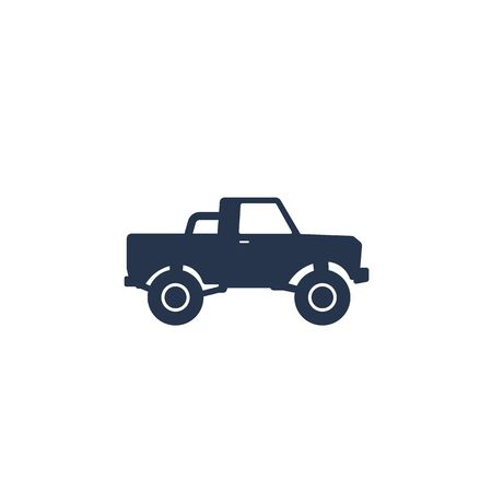 pickup truck icon on white
