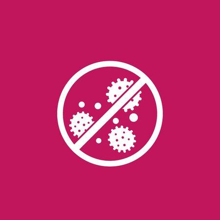 antibacterial, no bacteria vector icon or sign Ilustração