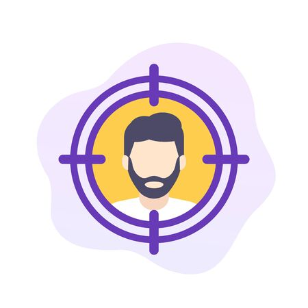 target audience, flat vector icon