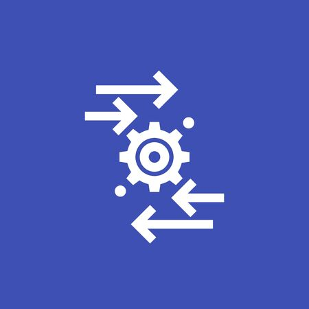 automation and optimization vector icon